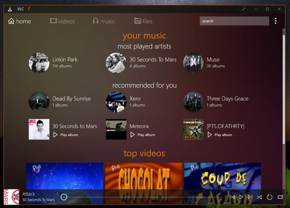 VLC for Windows 10 - Screen 1