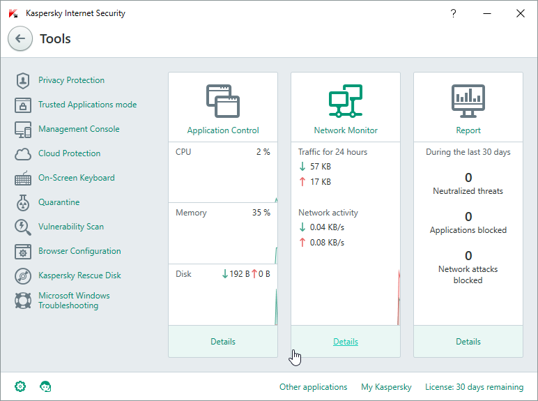 Windows 10 - Kaspersky Internet Security 2016