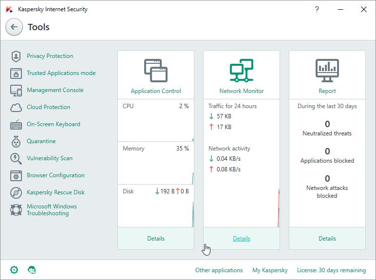Windows 10 - Kaspersky Internet Security 2016