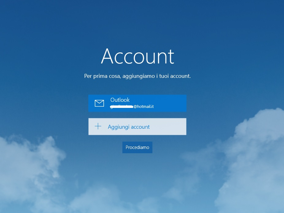 Windows 10 - calendario - add account