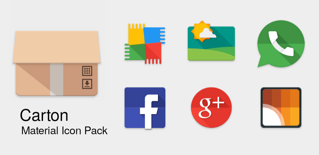 Carton Material Icon Pack - Android