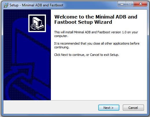 Installer ADB Fastboot