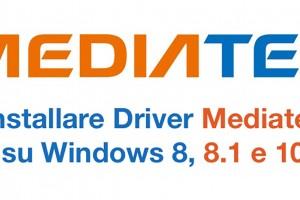 Driver - Mediatek - Windows 8-10