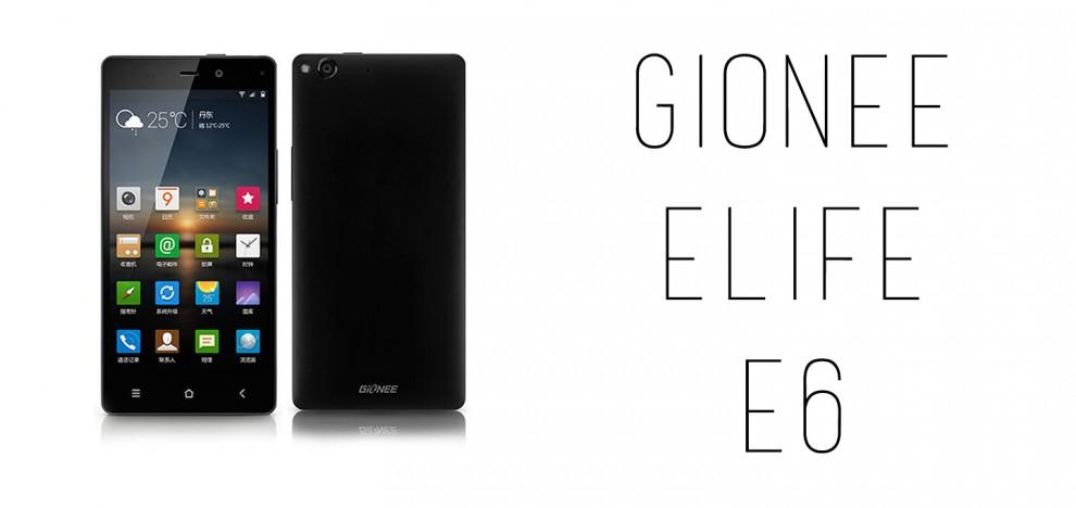 Gionee Elife E6