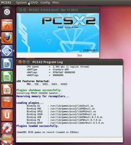 PCSX2 - screen - linux