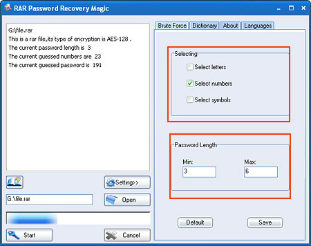 RAR Password Recovery Magic