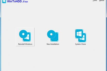 WinToHDD - screen 1