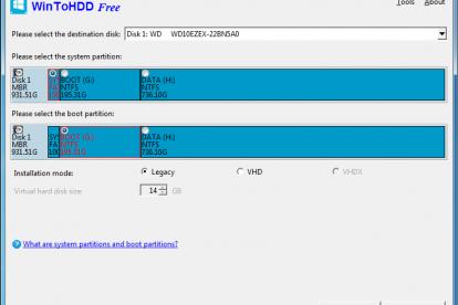 WinToHDD - screen 3