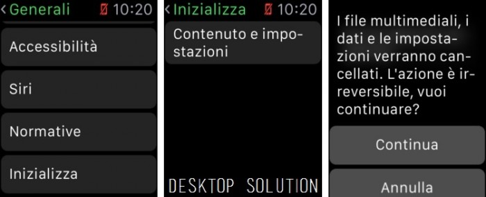 Apple Watch - Inizializza