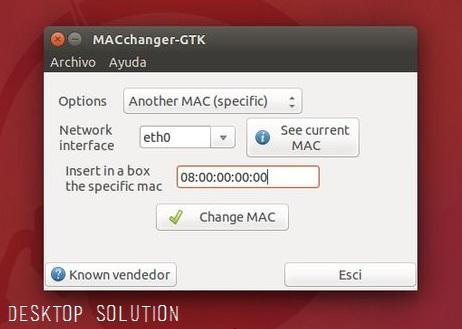 Macchanger GTK in Ubuntu
