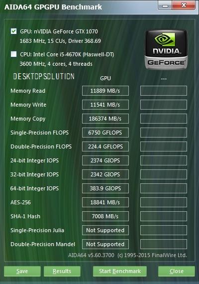 GTX 1070 FE - AIDA