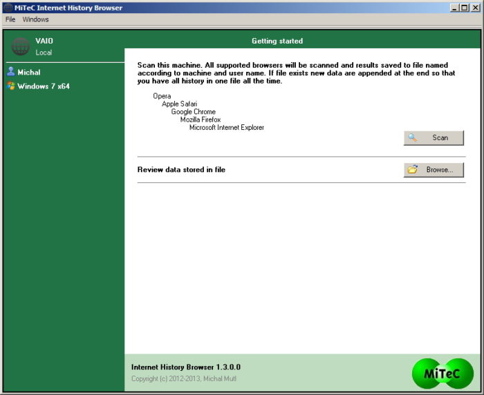 MiTec Internet History