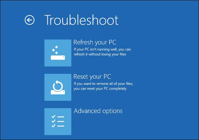 Windows 8 - Ripristino