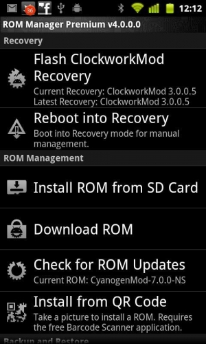 ROM Manager - ROM XtrMIUI V3