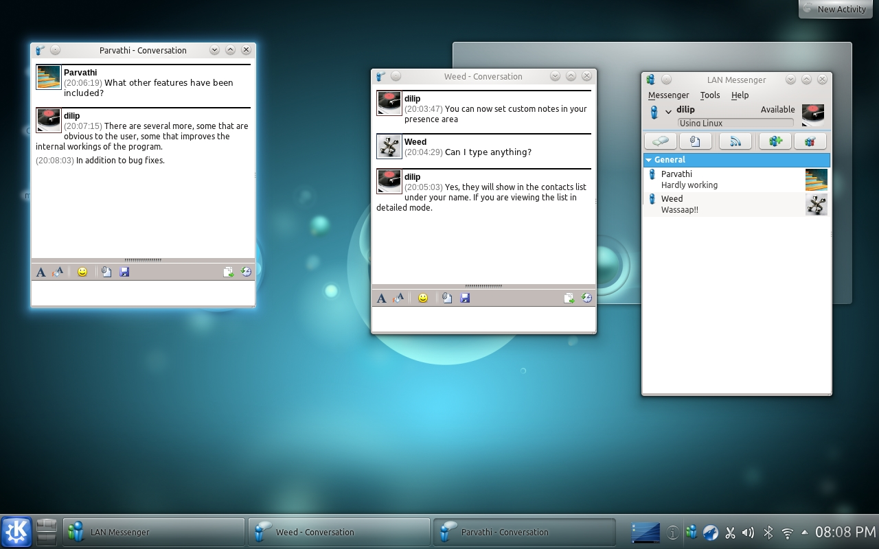 LAN Messenger - Linux (KDE)