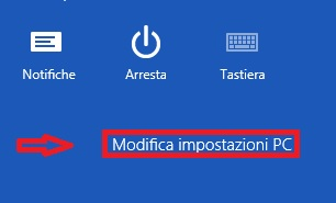 Windows 8 - Modifica Impostazioni PC