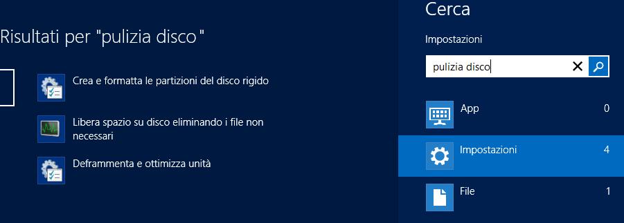win8 - pulizia disco