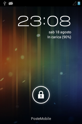 Huawei Sonic - Android 4.0.4 - Lockscreen