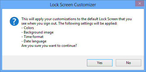 Lock Screen Customizer - Save