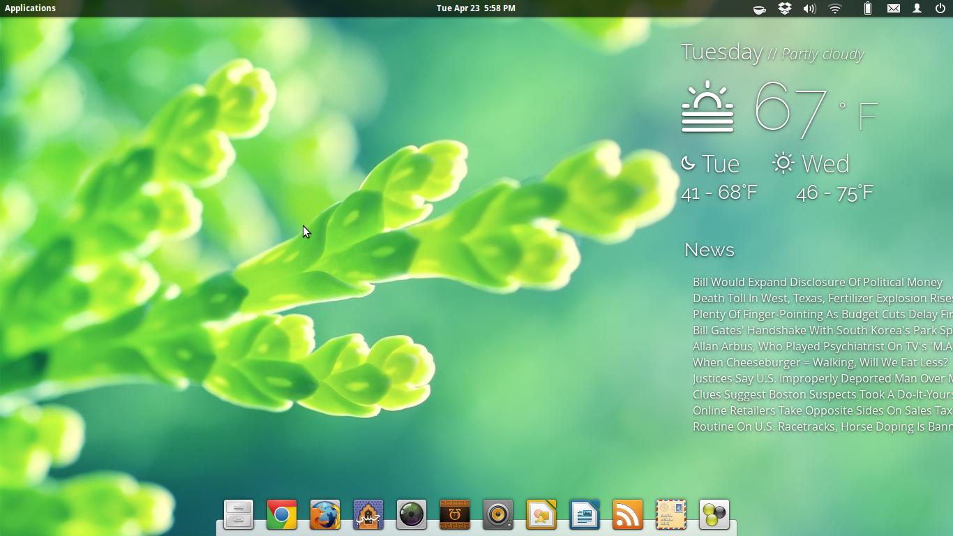 Gazette - Widget - Elementary OS