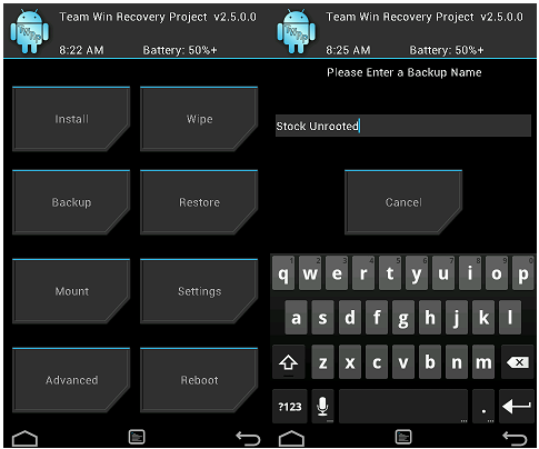gear live recovery twrp
