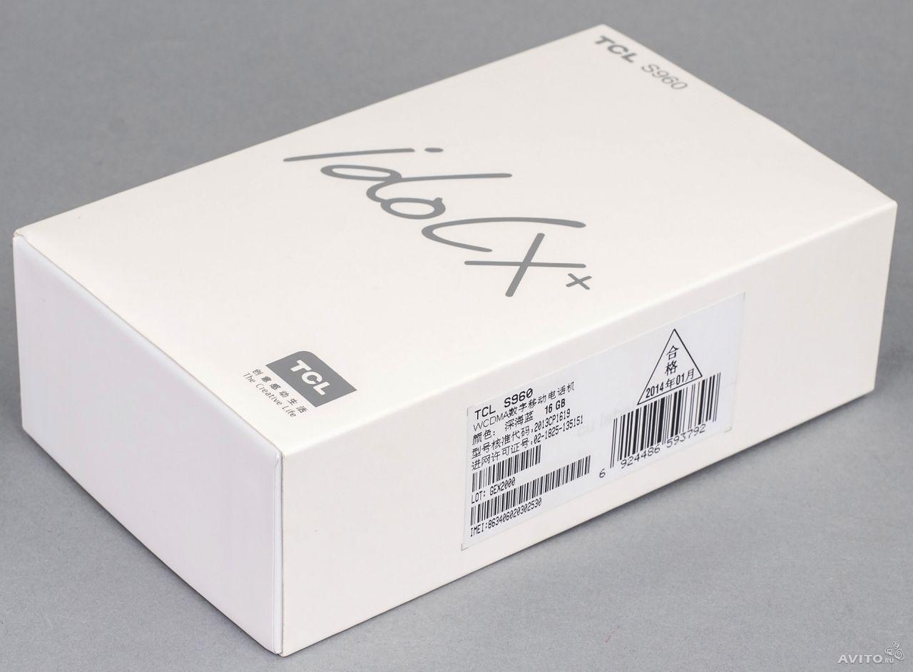 tcl idol x+ s960 box