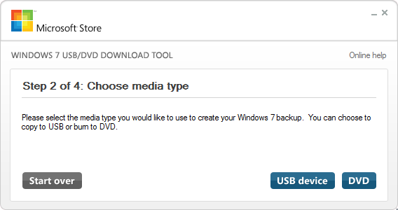 USB-DVD Download Tool - Windows 10 - 2