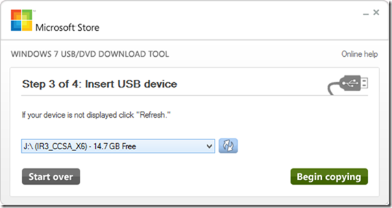 USB-DVD Download Tool - Windows 10 - 3