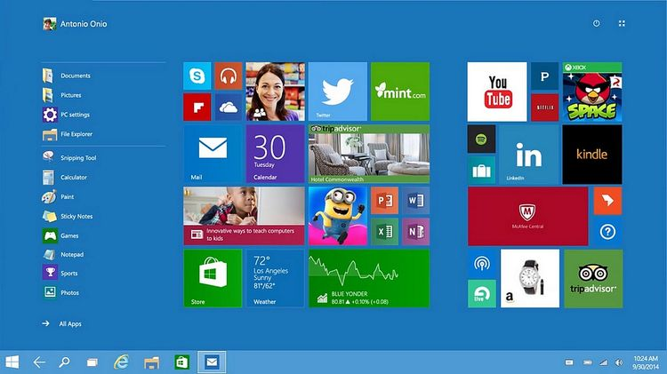 Windows 10 UI
