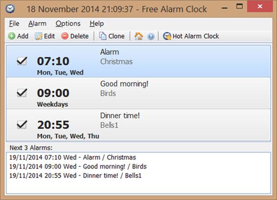 Free Alarm Clock - orario