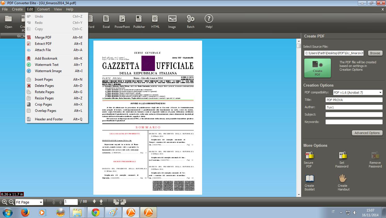Funzioni pdf converter elite 3