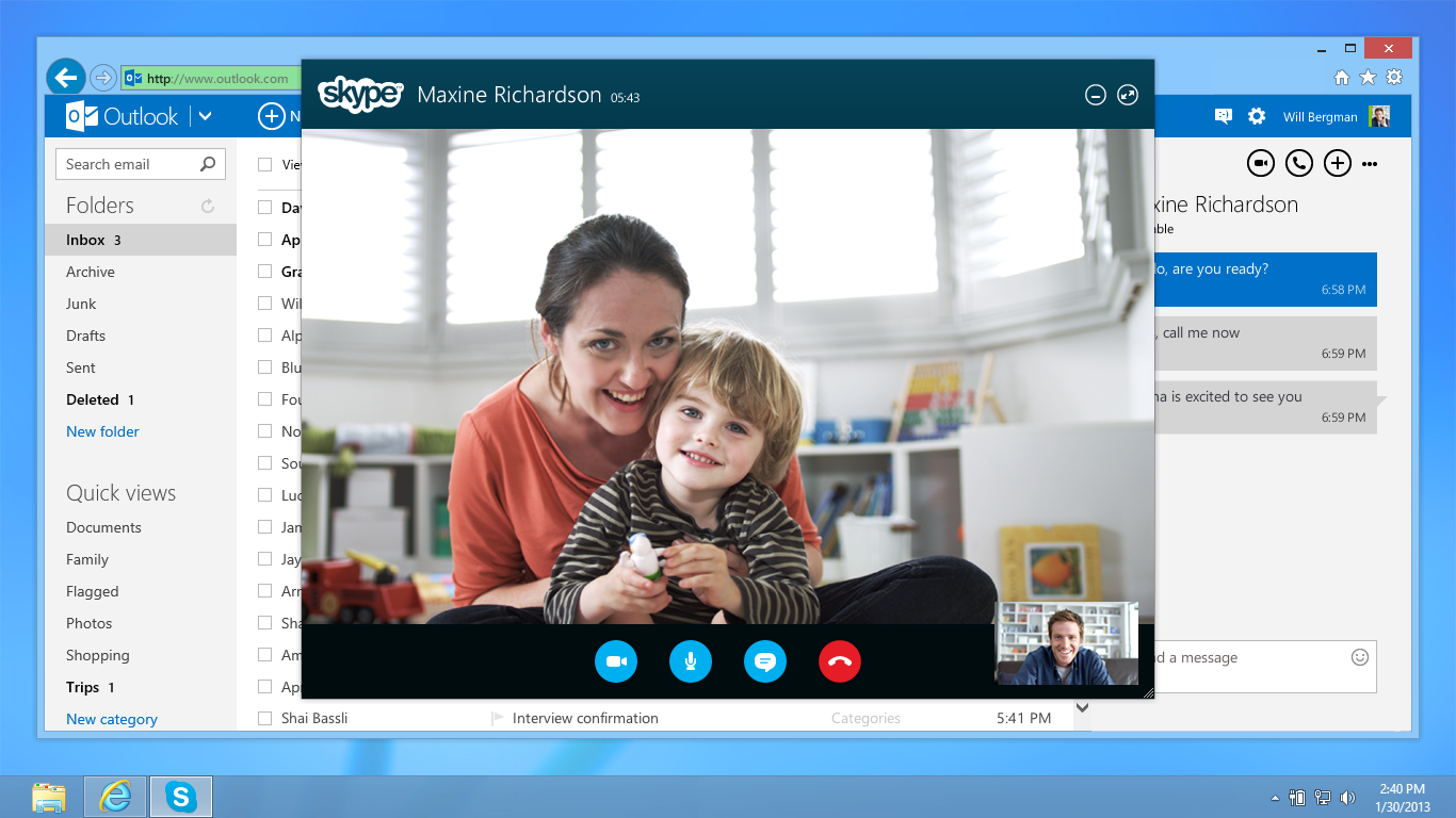 Skype-Web in Outlook