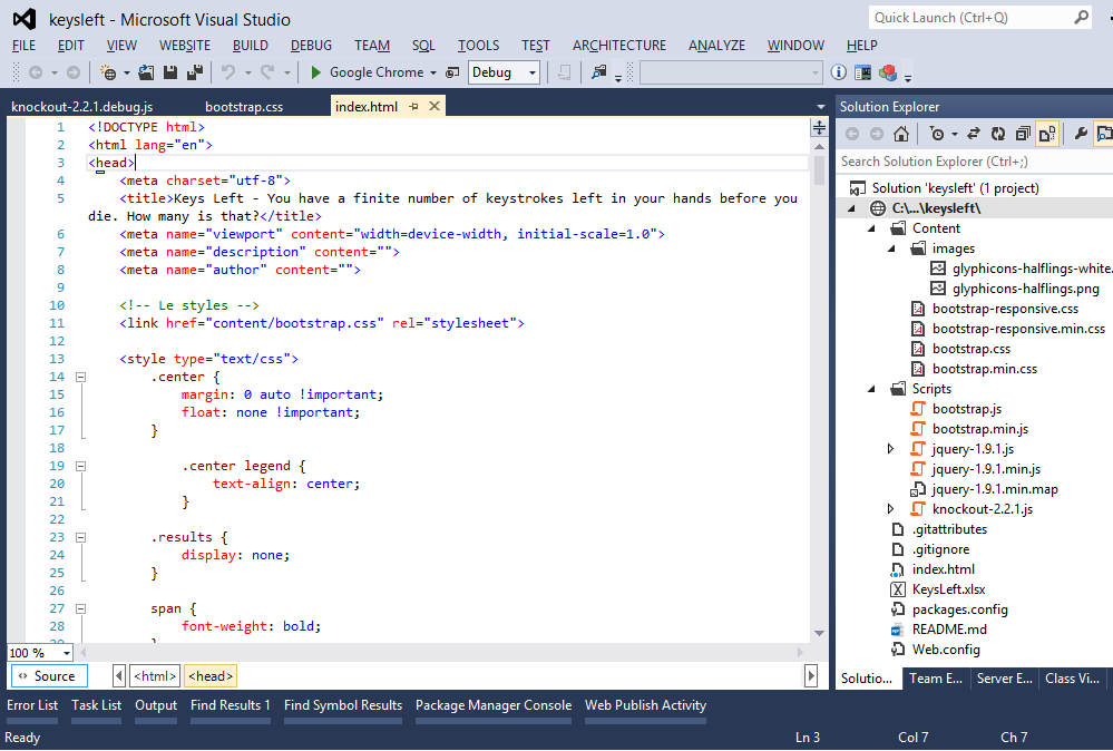 Visual Studio Express - Esempio
