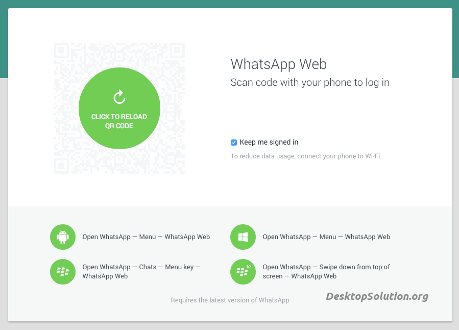 whatsapp-web qr code