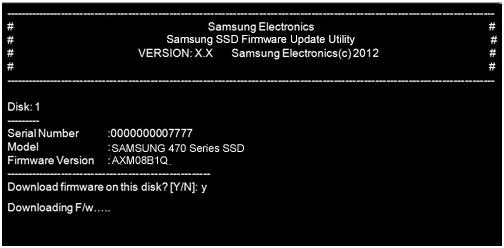 Aggiornamento firmware SSD Samsung