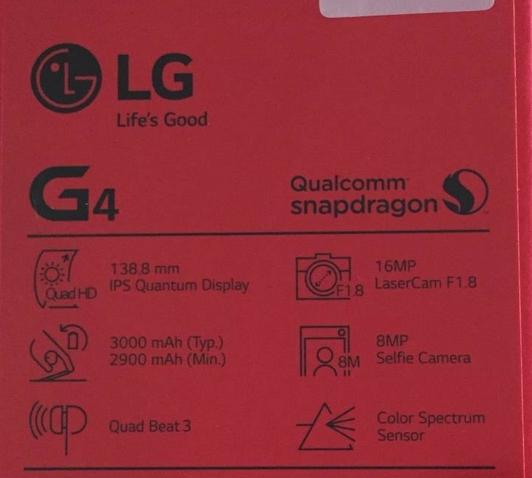 LG G4 specifiche
