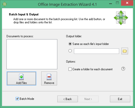 Office Image Extraction Wizard Free - 4.1 - Screen 2