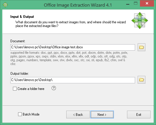 Office Image Extraction Wizard Free - 4.1 - Screen