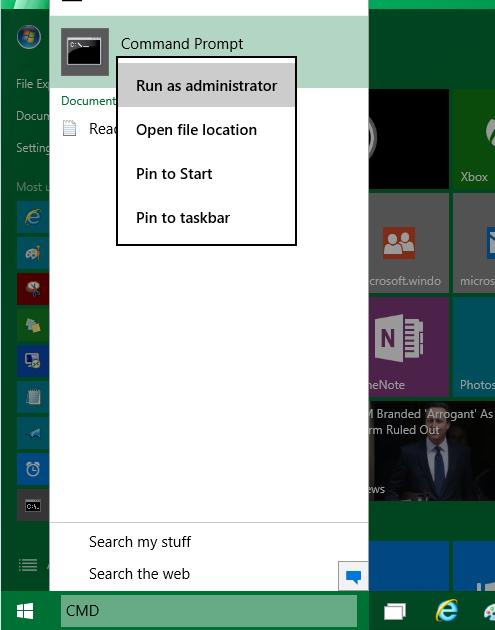 Prompt dei Comandi - Amministratore - Windows 10 - Metodo 3