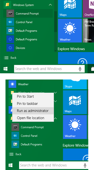 Prompt dei Comandi - Amministratore - Windows 10 - Metodo 4