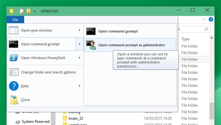 Prompt dei Comandi - Amministratore - Windows 10 - Metodo 7