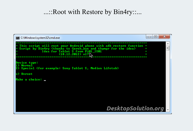 Root with Restore Bin4ry