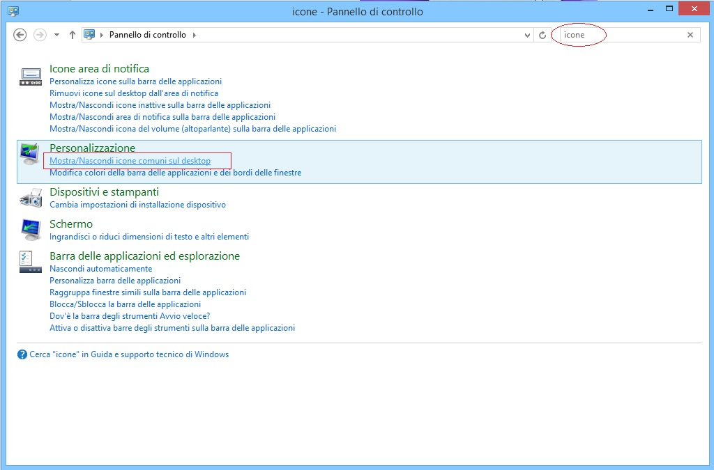 Windows 8.1 - Mostra icone desktop