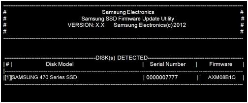 aggiornamento firmware ssd