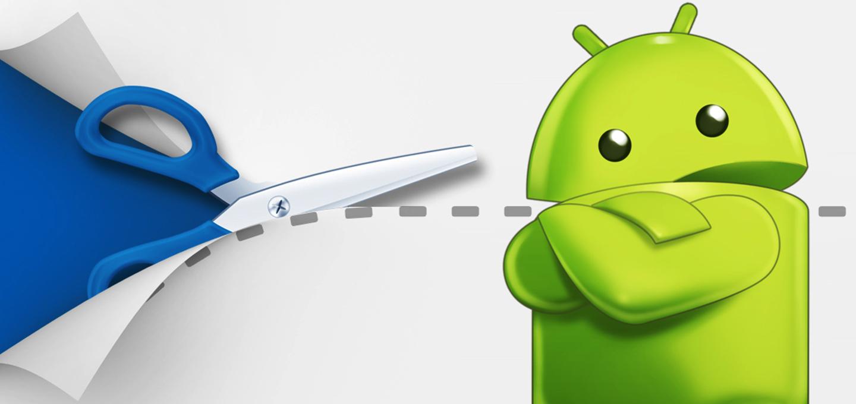 Tasti android su schermo