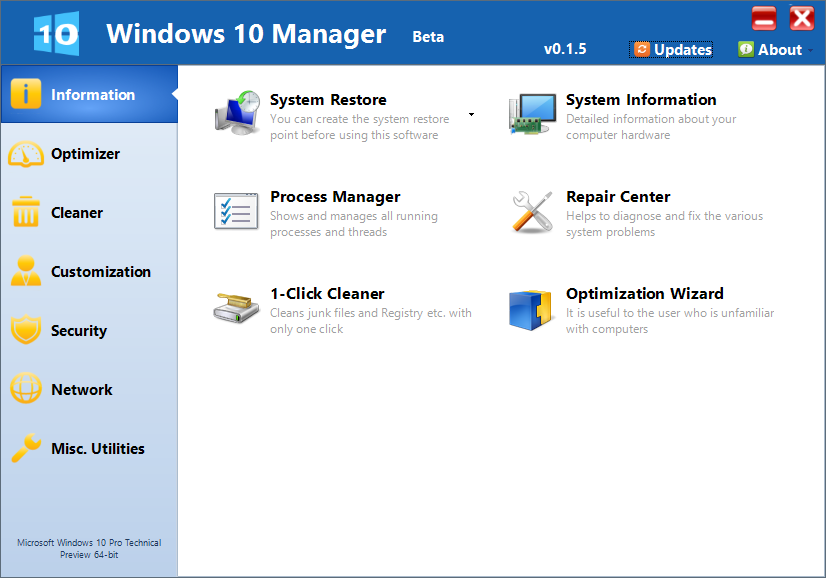 Windows 10 Manager - Tool