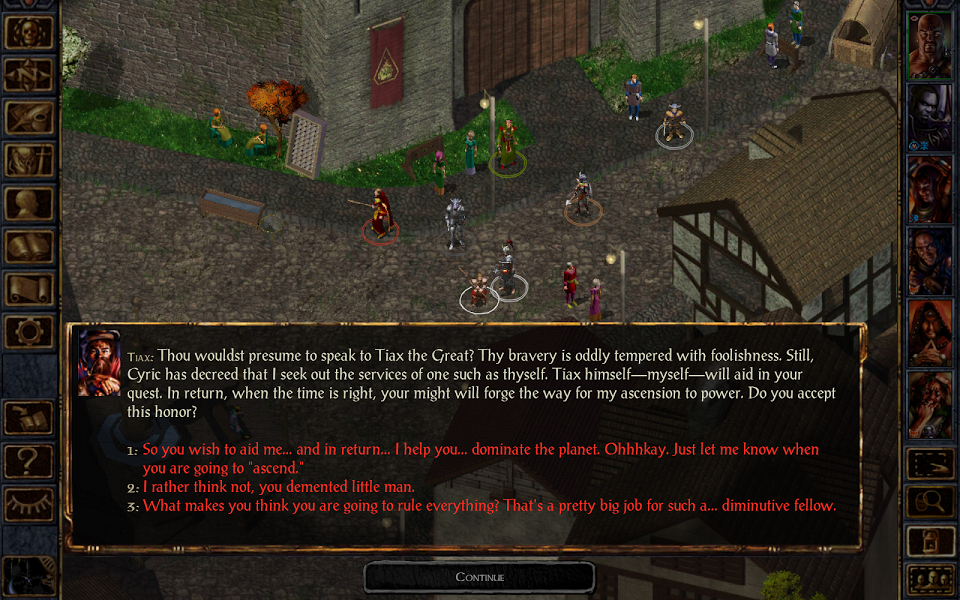 Baldur's Gate Enhanced Edition - Android Game - Screen1
