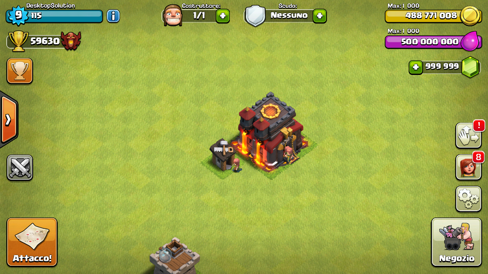 clash of clans modded account download