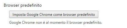 Google Chrome - browser predefinito - impostazione