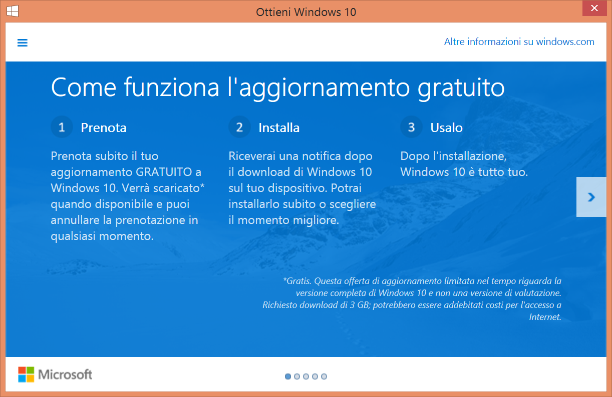 Ottieni Windows 10 - Notifica - Screen1